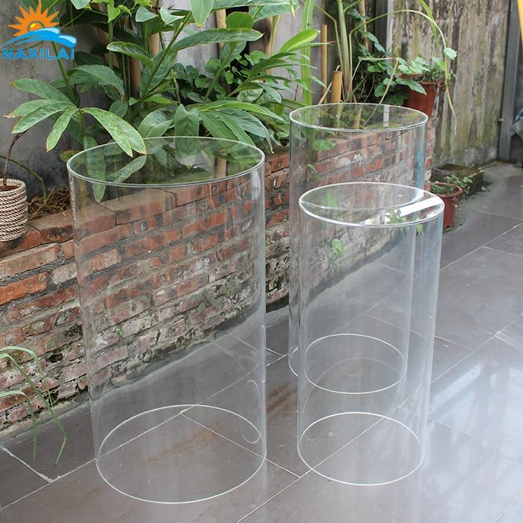 NAXILAI Party Wedding Round Acrylic Pedestal Display Cake Transparent Cylinder Clear Acrylic Pedestal Table