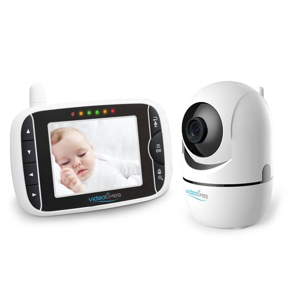 VIDEO DIGITAL 3.2 GHz LCD 2.4 Inci, Kamera PAN-TILT-ZOOM dengan REMOTE, VIDEO DIGITAL Nirkabel untuk Bayi