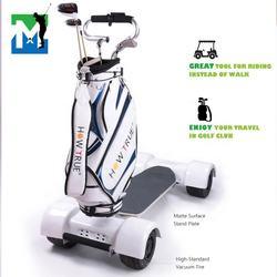 New golf trolley lithium battery Aluminum Alloy  4 wheel white Skateboard Body-Turning Electric Golf Trolley
