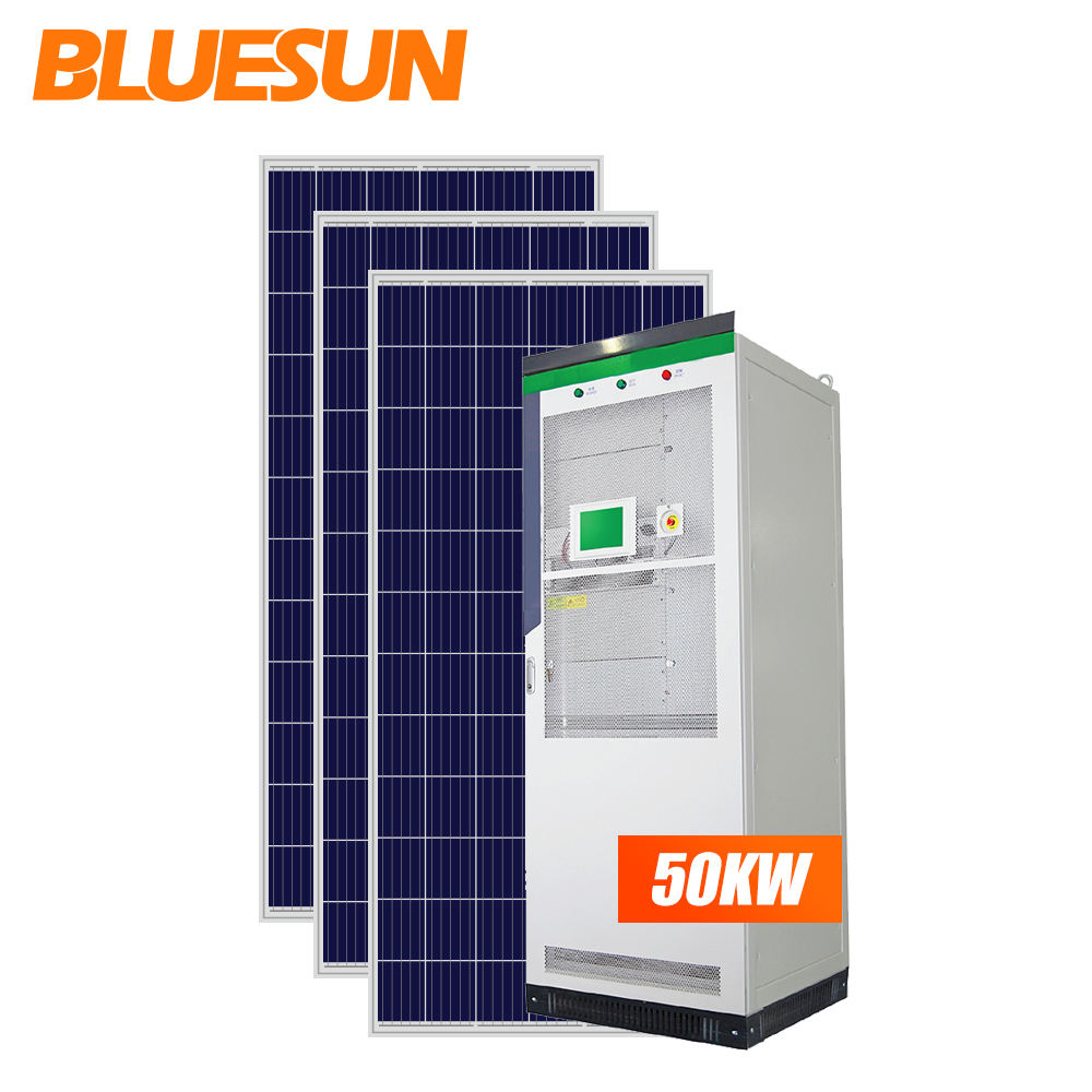 Bluesun on e off grid solar power <span class=keywords><strong>50kw</strong></span> sistemi di energia solare con batterie di energia solare stazione per <span class=keywords><strong>commerciale</strong></span> e industriale