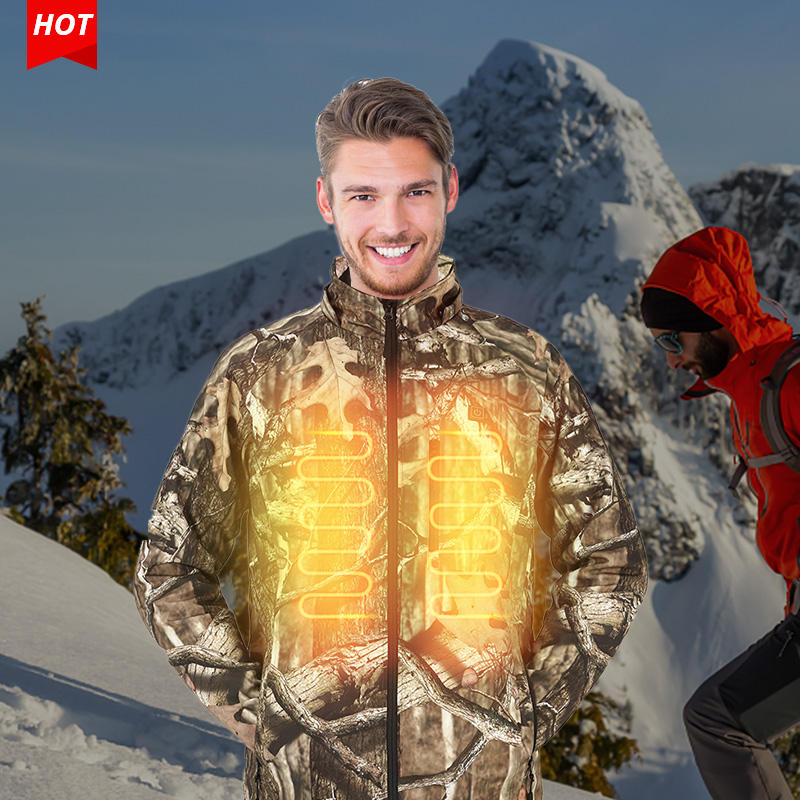 Best Selling Winter Waterproof Windproof Hiking Camping Heat Hunt Clothing Camouflage Jacket Men Camo Heated Jacket