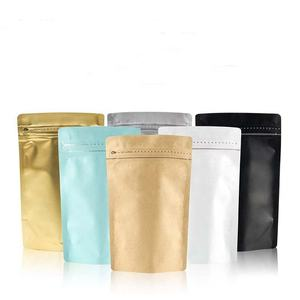 125g, 250g, 500g and 1 kg coffee pouch with valve stand up aluminum foil packaging bag