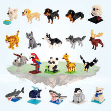 Plastic Building Block Assembling Animal Model Toys Funny Bricks Toy For Kids