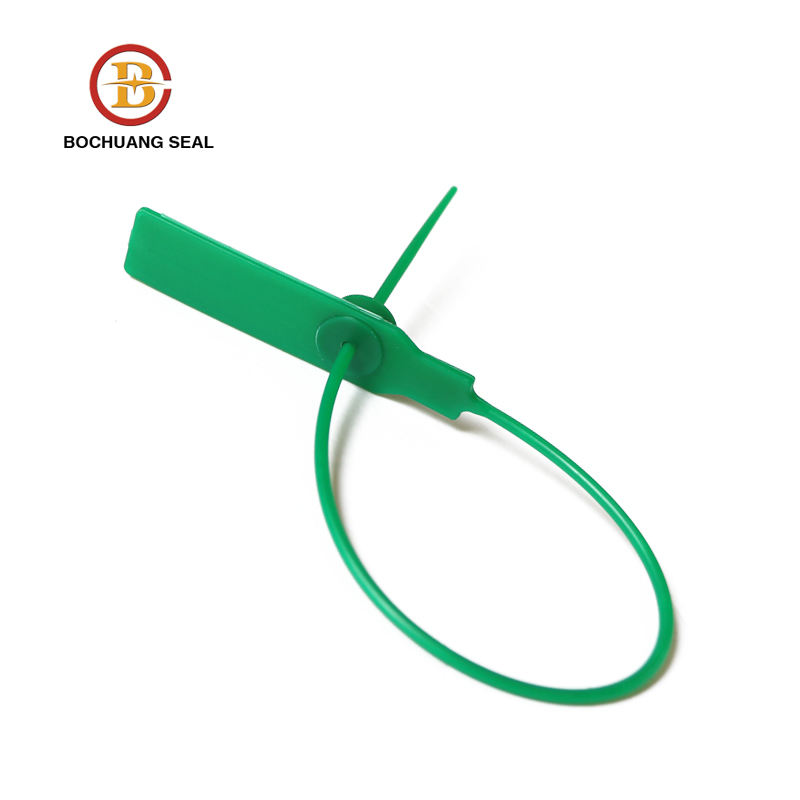 plastic pull tight strap seal with metal ring