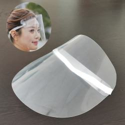 High Quality Beauty Salon Reusable Plastic Face Shield Mask Clear Plastic Mask For Daily Use