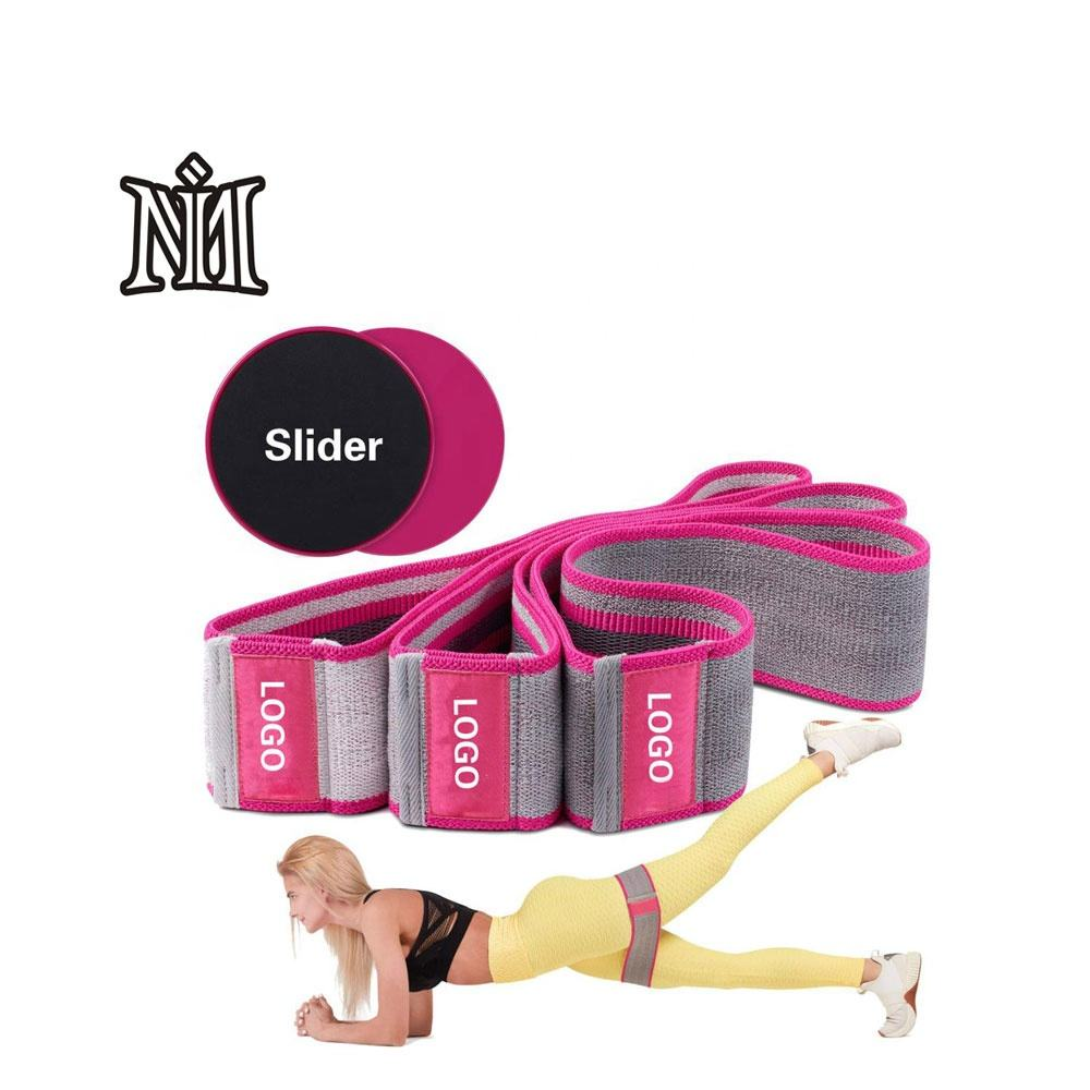 Booty loop resistance bands wholesale Top quality fitness wear hip circle resistance loop band set wrist wrap for fitness