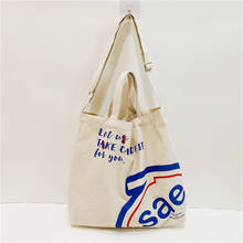 High quality recycled utility custom logo print heavy duty canvas shopping tote cotton shoulder bag with pocket