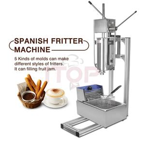 spanish manual churro maker churro machine and fryer Spain Donut Machine with 5 pieces nozzles