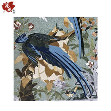 Popular item China oil mosaic tile design bird mosaic oil painting mosaic mural for wall decor