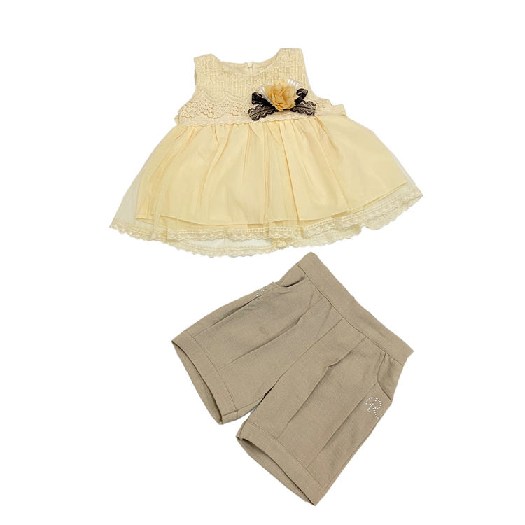 Best Selling Girl 2 Pieces Clothes Wholesale Kids Clothes Eid Dresses Girls