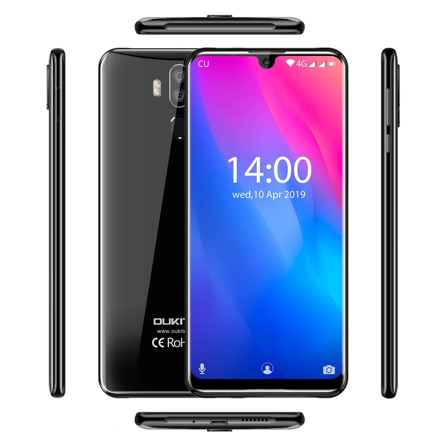 HOMTOM 4GB + 64 P30 PRO Telefone Quente 6.41 GB HD + polegadas 1560*720 Android 9.0 OS mobile smartphone 4G