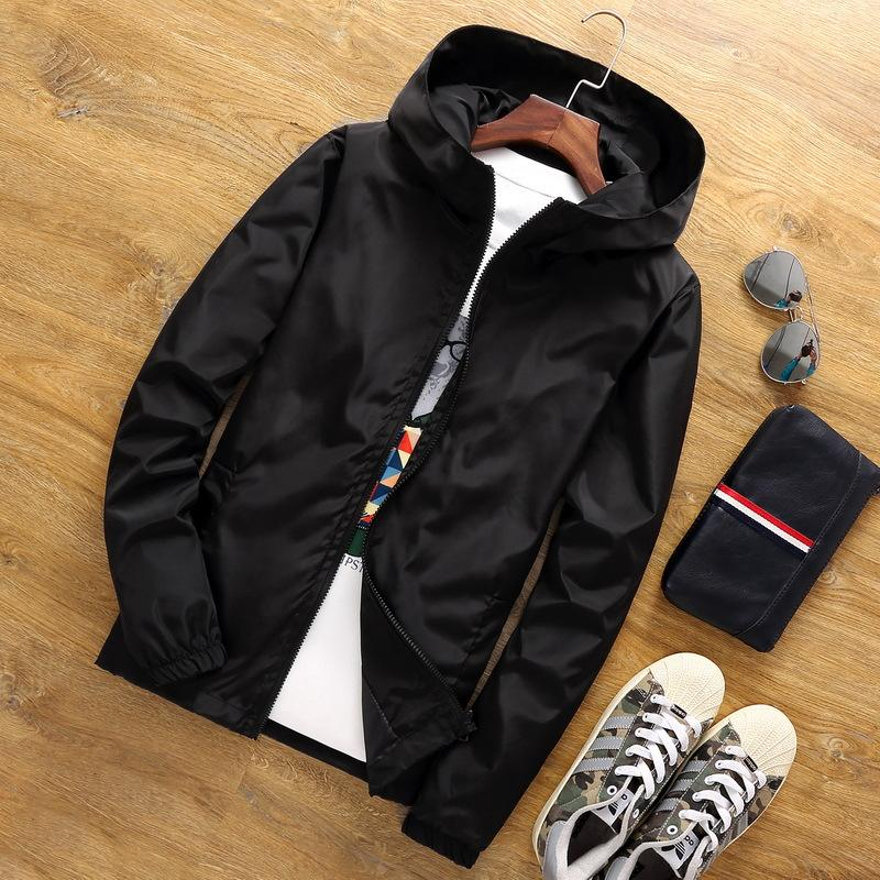 Plus Size S-7XL Korea Style Jacket Plain Casual Long Sleeve Windproof spring jackets for mens