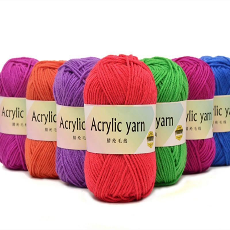 OEM Eco-friendly cheap high quality 4ply acrylic hand craft yarn for hand knitting