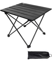 Aluminum Portable Folding Camping Table,Compact Ultralight Picnic Table Roll up with Carrying Bag for Indoor and Outdoor Picnic