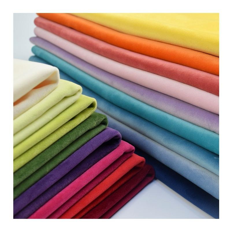 Wholesale velvet fabric for curtains/table cloth/cushion with many colour available