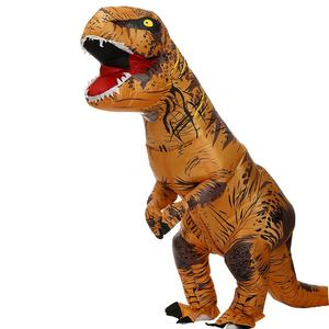 Hot sale inflatable t rex dinosaur cosplay halloween blow up walking t rex dinosaur mascot costumes for adult children