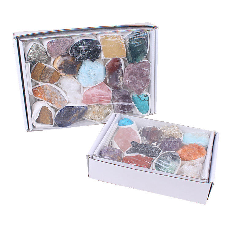Wholesale Natural Stones Crystal chakra mineral healing crystals and stones gift set