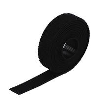 Manufacturer Nylon Reusable Black Hook Loop Cable Ties
