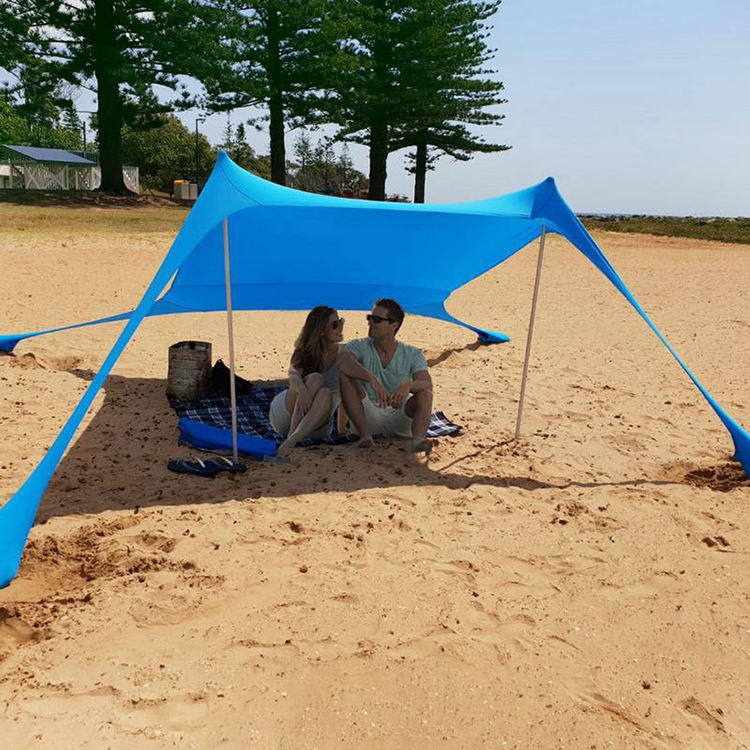 210X210X160Cm Family Beach Tent Sun Shelter, Portable Waterproof Beach Tent Sun Anti-Uv Shade Awning Beach Umbrella Tent Picnic/