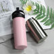 Food grade vacuum double wall flask 18/8 stainless steel thermos insulated thermos mug with handle