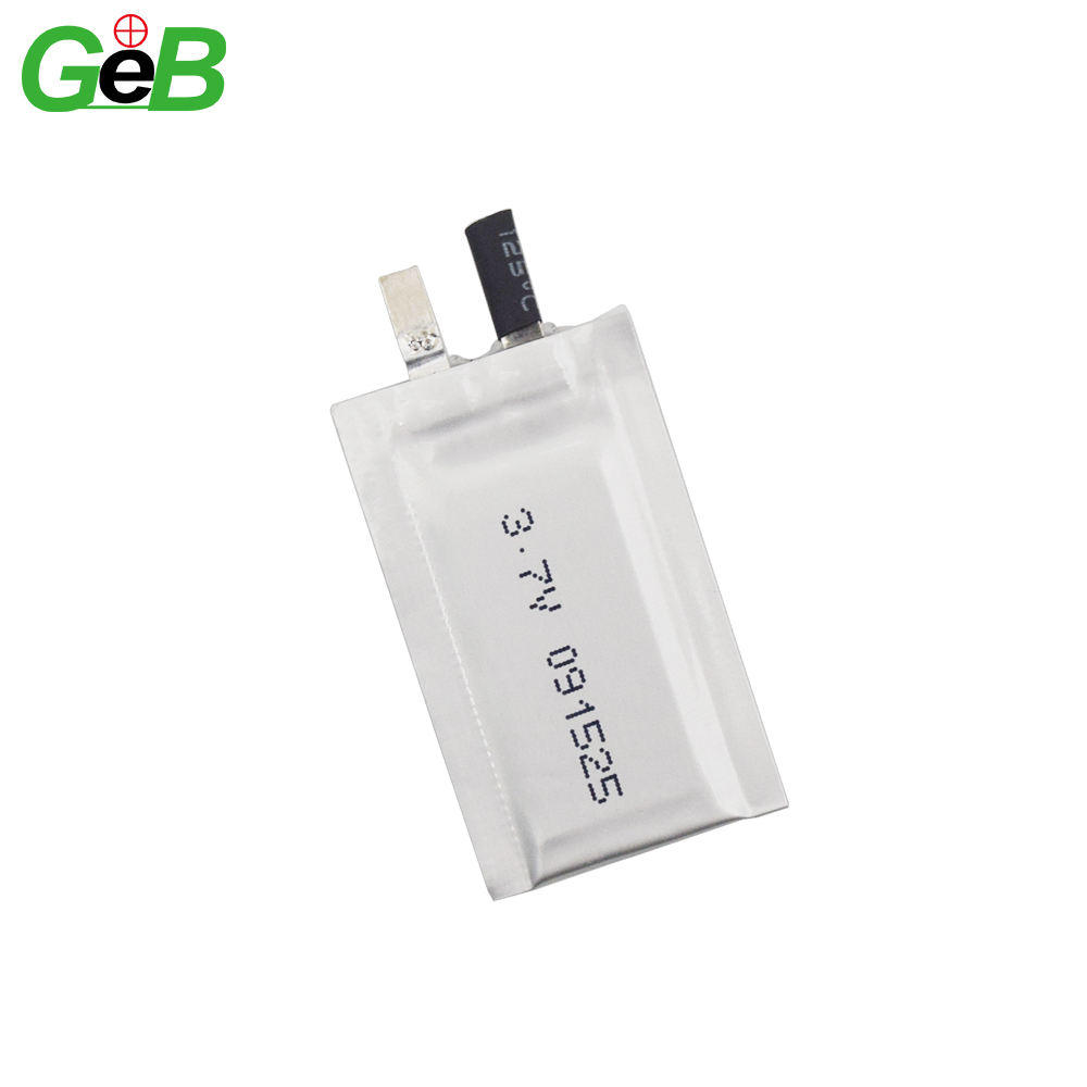 High quality lipo 0.9mm Ultrathin battery 091525 3.7V 15mah lithium polymer rechargeable batteries battery for ultra-thin cards