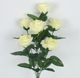Artificial Flower rose 7 head long bouquets of white roses silk cloth