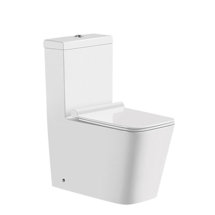 Watermark and EuropeanToilet Five Star Hotel Bathroom WC One Piece Ceramic Washdown Toilet