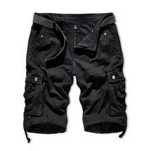 Wholesale Summer Sports Spandex Cotton Plus Size Mens Cargo Plain Black Shorts
