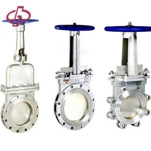 DIN Dn150 China supplier ANSI standard flanged gi ptfe knife gate valve