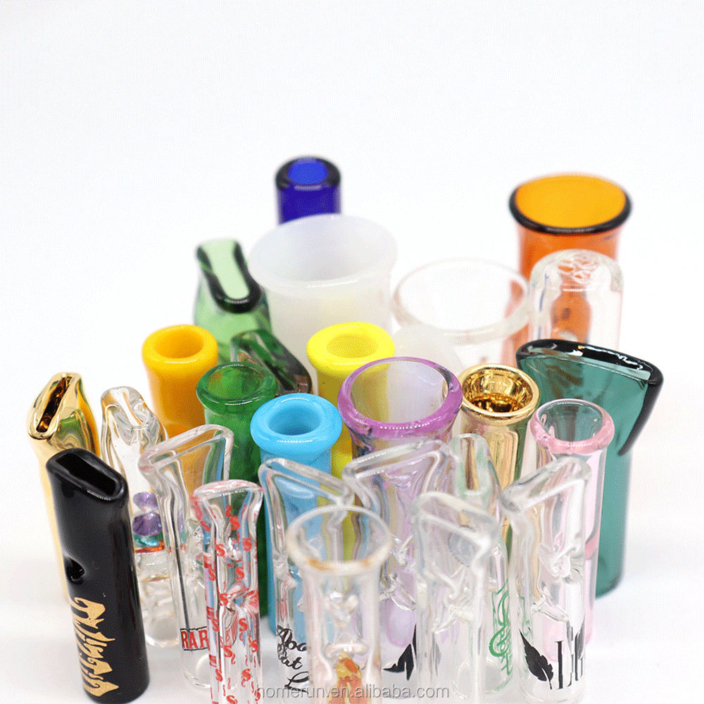 10 Reusable Pyrex Glass STRAW Smoke Tobacco Herb Blowing Tube Chillum One Hitter