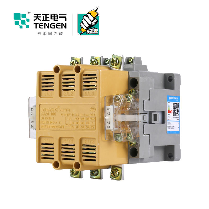 highly cost effective Contacts Relay CJ20-160A 220V 4NO 2NC magnetic contactor connection