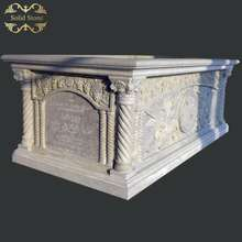 Customizable factory direct price hand carved relief natural stone church altar