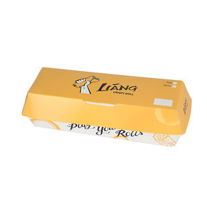 Customized chicken roll fast food paper packing box