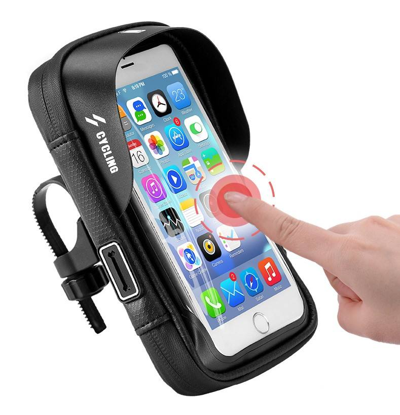 Hot Sale Waterproof Touch Screen Bicycle Cycling Bags Handlebar Front Phone Holder Bike Bag
