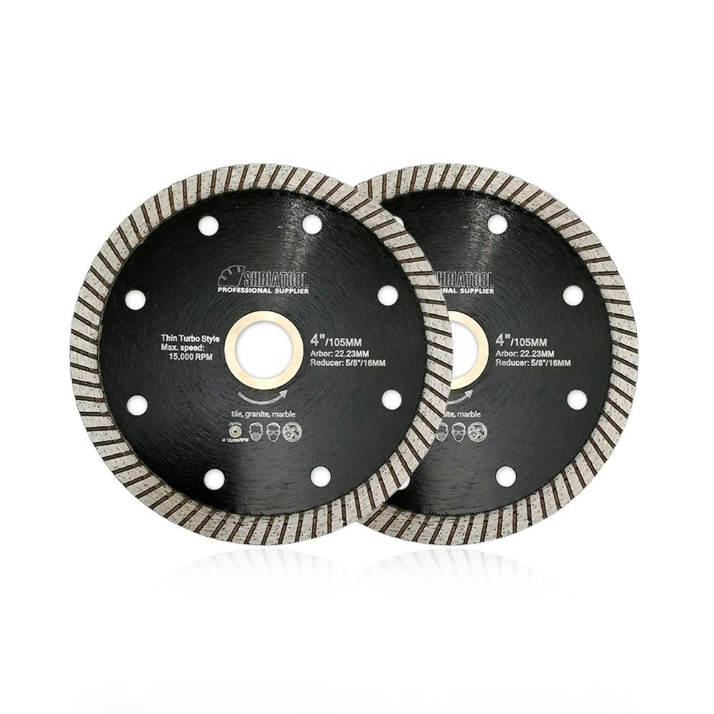 4 inches 105MM Diamond Hot Pressed Super-Thin Diamond Turbo Blades 8mm segment height cutting discs