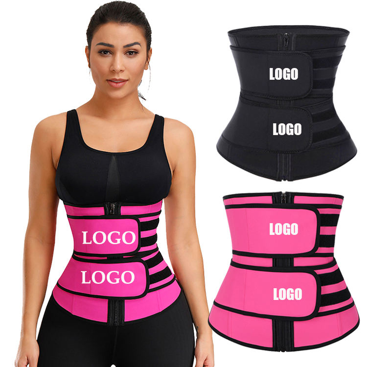Black Big Size Women waist trainer shaper Corset With Sticker Tummy Trimmer