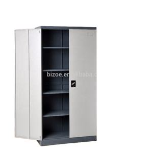 Outside the hinges metal KD Tool Storage cabinets two door steel filing cabinet with shelves