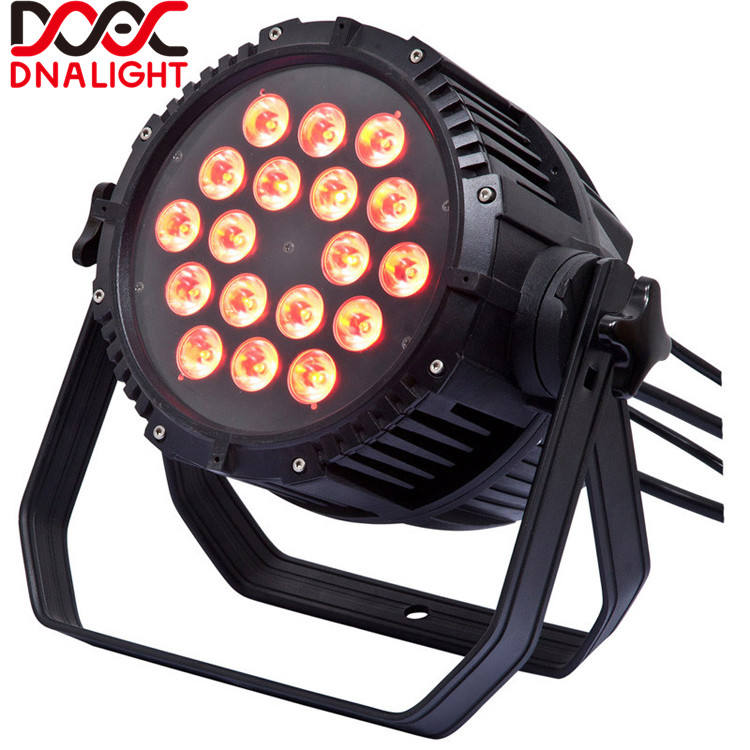 LED Stage Licht 18pcs 18W RGBWAUV 6IN1 Outdoor LED Par Licht Dj Apparatuur Night Club voor Verjaardagsfeestje decoratie