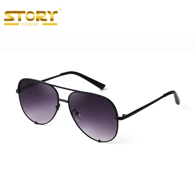 STY7020 Factory wholesale custom multicolor classic aviation sunglasses men popular oversize metal frame UV400 sun glasses women
