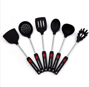 Trend Kitchen Kitchen Utensils 2021 New Trend 6 Piece Kitchen Silicone Cooking Utensil Set
