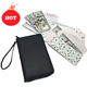 Top Sellers 2019 For Amazon Fashion Style Leather Front Pocket Black Multi-Pocket Credit Card Cash Envelope Wallet