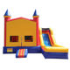 China cheap children small slides bouncers combo jumping Inflatable castle for sale