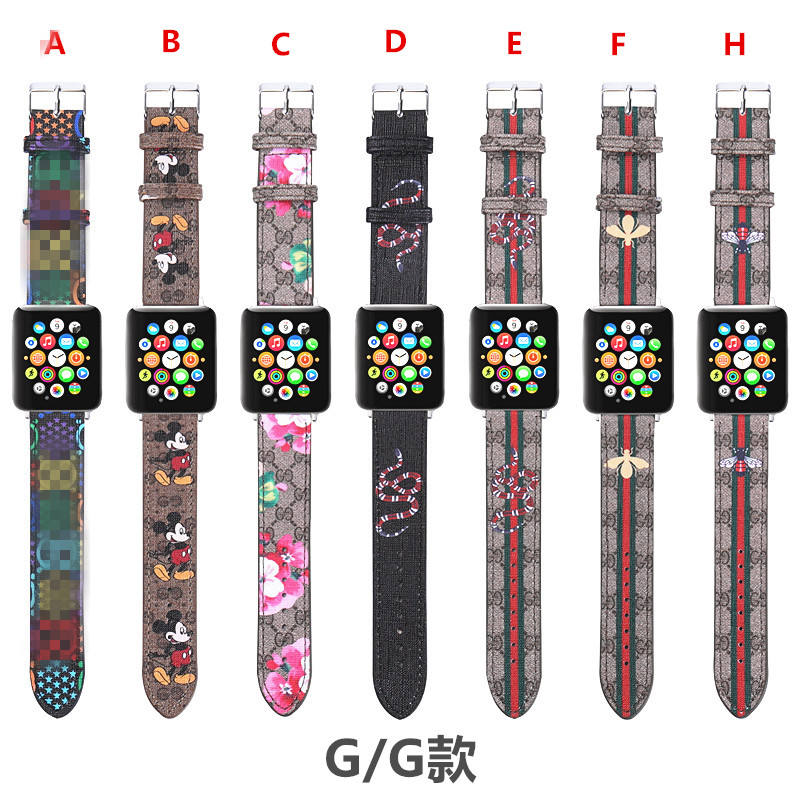 luxury High Quality for Apple watch bands for iwatch Strap leather Check 38 42mm 44mm i Watch Band leather iwatch band strap