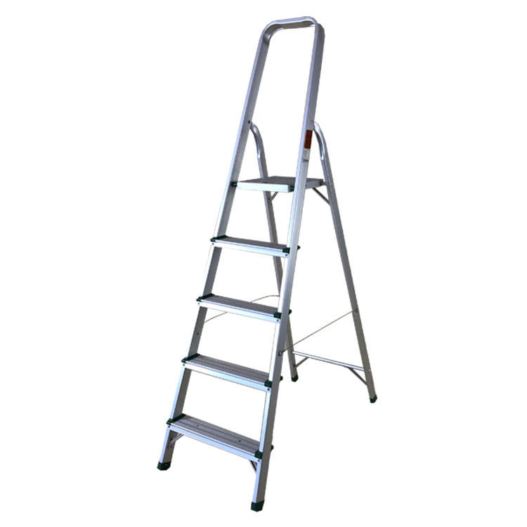 Single draw aluminum telescopic ladder with 4 step ladders thickness of aluminum