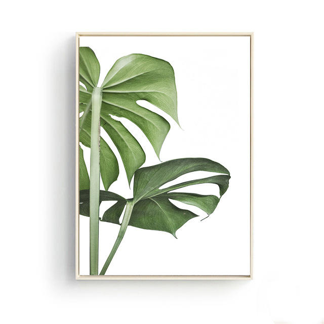 Home Decoration Palm Green Plants Landscape Coffee Posters Wall Art Pictures Canvas Painting for Kitchen Restaurant Decor