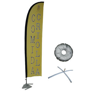 Angepasst Windless Feder Banner Flagge Kit (Flagge & Pole & Boden Mt)
