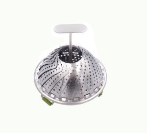 Factory hot sale steamer silicone basket with feet food prices