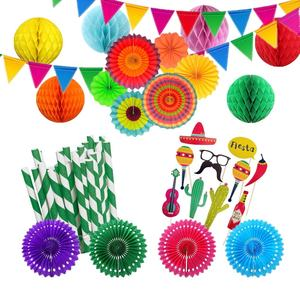 Fiesta Party Decoraties Cinco De Mayo Mexicaanse Party Decoraties Mexicaanse Levert Honingraat Ballen Papier Fans Decoratie Supply