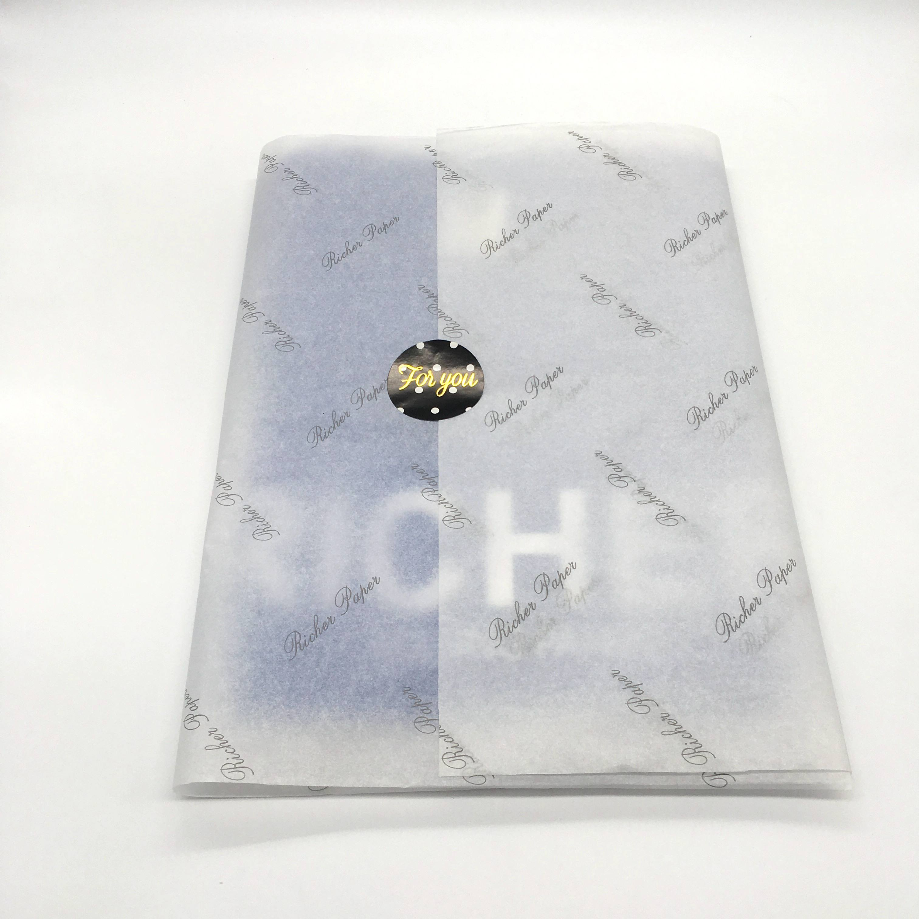 custom design cloth/garment/clothing/shoes/jewelry Packaging tissue wrapping paper