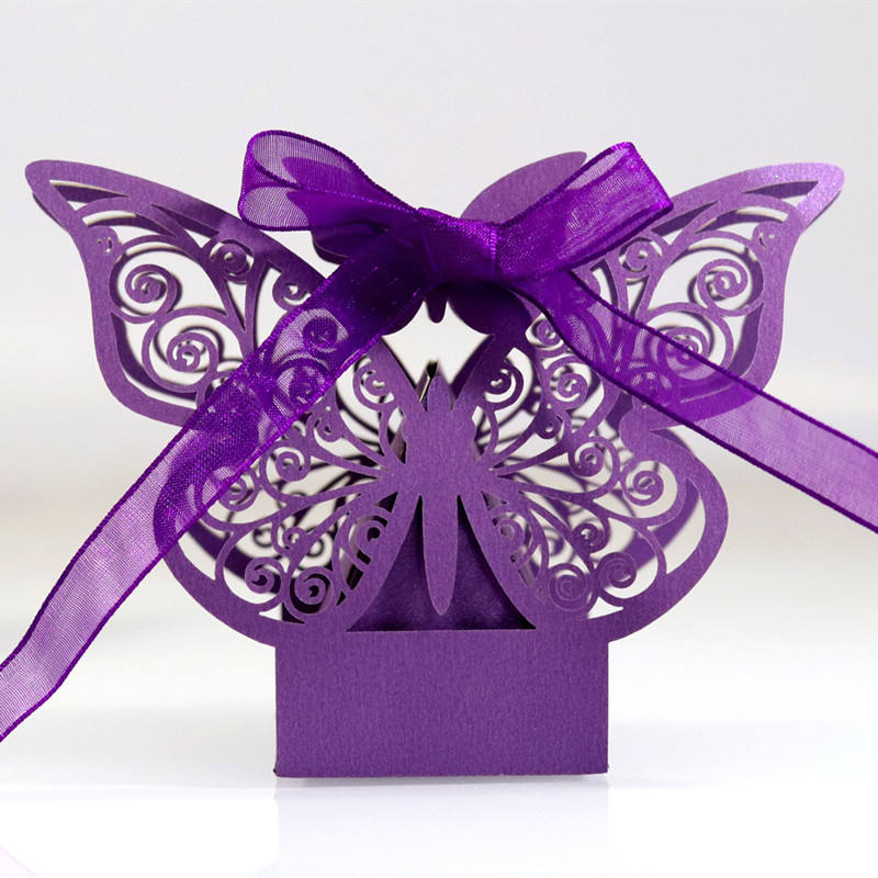 Butterfly Candy Gift Box Chocolate Paper Box Wedding Candy Box with Butterfly